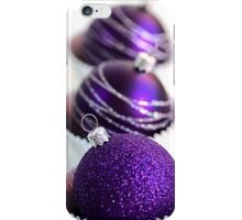 Christmas Purple Bauble Cupcakes iPhone Case/Skin