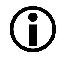 Information Symbol - Black by ChadAlan