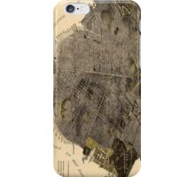 Vintage Pictorial Map of San Francisco (1915) iPhone Case/Skin