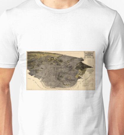 Vintage Pictorial Map of San Francisco (1915) Unisex T-Shirt
