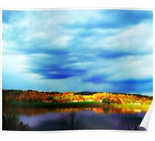 Ohio River Serenity ~ Morning Coffee On The Deck Poster