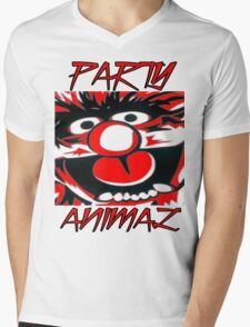 Party Animal(Muppets) Mens V-Neck T-Shirt