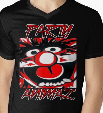 Party Animal(Muppets) Mens V-Neck T-Shirt