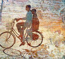 Girls on Bike, Hue by EricKuns