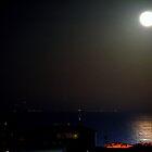 Moonlight in the Mediterranean sea. by Turi Caggegi