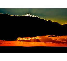 Shining behind clouds. Photographic Print