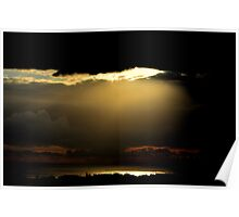 Sunrise in the shadow. Poster