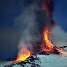 Fire on the snow. (RB EXPLORE) by Turi Caggegi