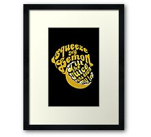 The Lemon Tee Framed Print
