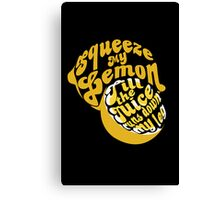 The Lemon Tee Canvas Print