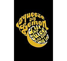 The Lemon Tee Photographic Print