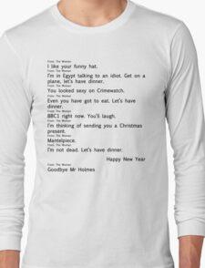 Scandal Text 2 part 2 (Black) Long Sleeve T-Shirt