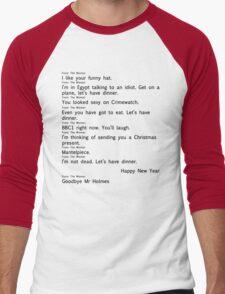 Scandal Text 2 part 2 (Black) Men's Baseball ¾ T-Shirt