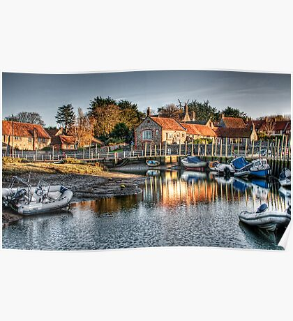 Blakeney Quay, North Norfolk coast Poster