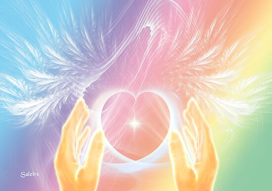 Healing with Angels and Rainbows by saleire