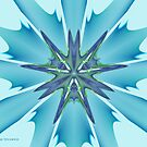Blue Star Burst by viennablue