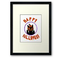 toothless wishes a happy halloween Framed Print