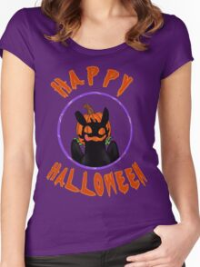 toothless wishes a happy halloween Women's Fitted Scoop T-Shirt