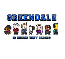 8-bit Greendale is Where They Belong (College Text) by oncenfuturekiki