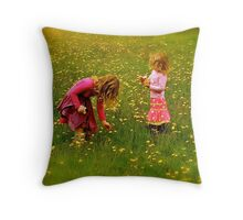 Innocence and Bouquets Throw Pillow