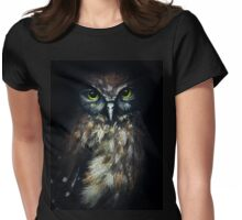 Morepork, New Zealand Owl Womens Fitted T-Shirt