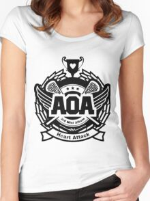 AOA Black Women's Fitted Scoop T-Shirt