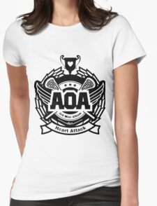 AOA Black Womens Fitted T-Shirt