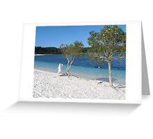 Lake Mackenzie Fraser Island Australia Greeting Card