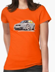 Audi S4 (B5) Silver Womens Fitted T-Shirt