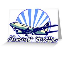 Aircraft spotter blue Greeting Card