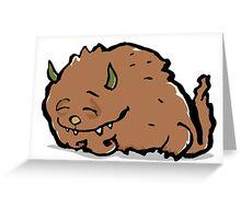 small sleeping monster Greeting Card