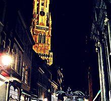 Belfort Tower by Night by andrewlloyd