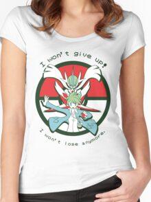 Pokémon OR/AS - Wally Speech Women's Fitted Scoop T-Shirt