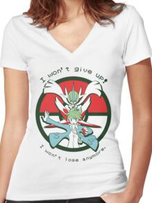Pokémon OR/AS - Wally Speech Women's Fitted V-Neck T-Shirt