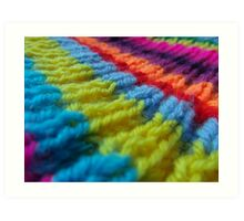 Rainbow knit Art Print