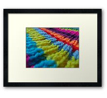 Rainbow knit Framed Print