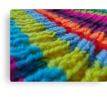 Rainbow knit Canvas Print