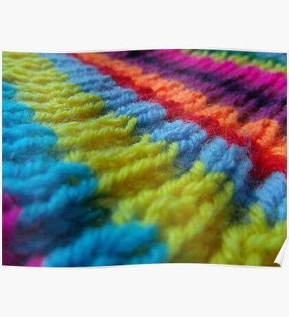 Rainbow knit Poster
