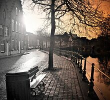 Bruges Canal Scene by andrewlloyd