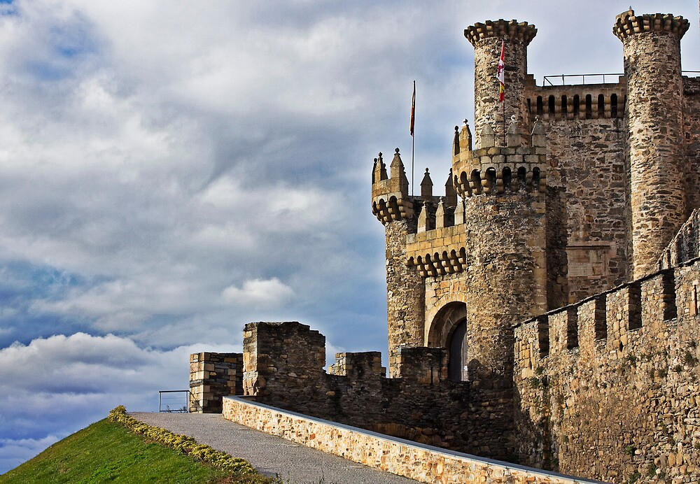 Medieval Templar Castle of year 1178 in Ponferrada, Spain by james633