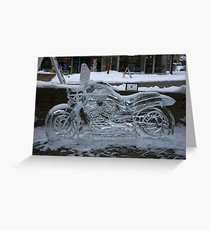 ice motorcycle Greeting Card