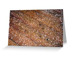 Ice Pellets Greeting Card