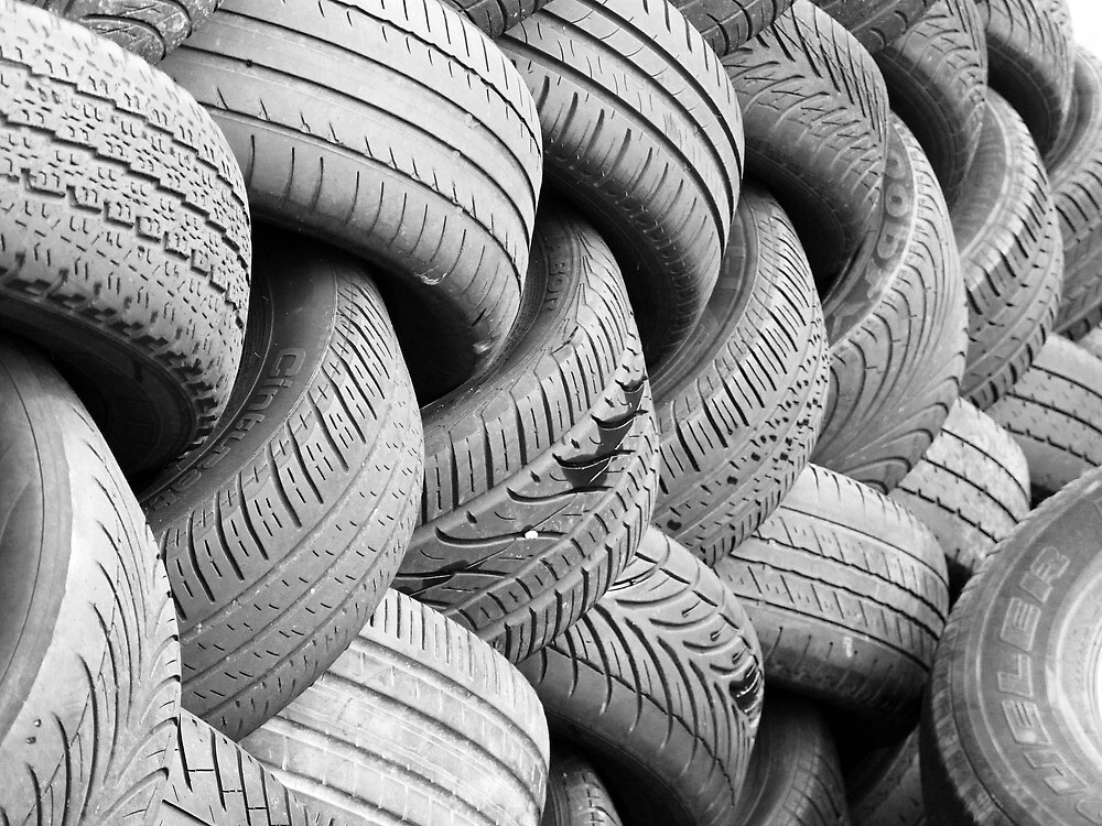 old car tires by james633