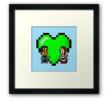 Love in 8-bit: Abed and Hilda (style A) Framed Print