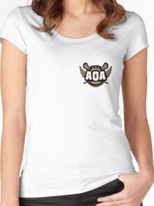 AOA Brown Women's Fitted Scoop T-Shirt
