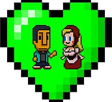 Love in 8-bit: Abed and Hilda (style B) by oncenfuturekiki