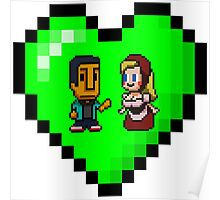 Love in 8-bit: Abed and Hilda (style B) Poster