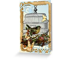 A Caged Bird Sings  Greeting Card