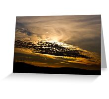 Almost Sunset Greeting Card