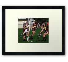110711 042 0 pointillist field hockey Framed Print